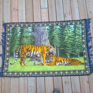 Vintage tiger Tapestry